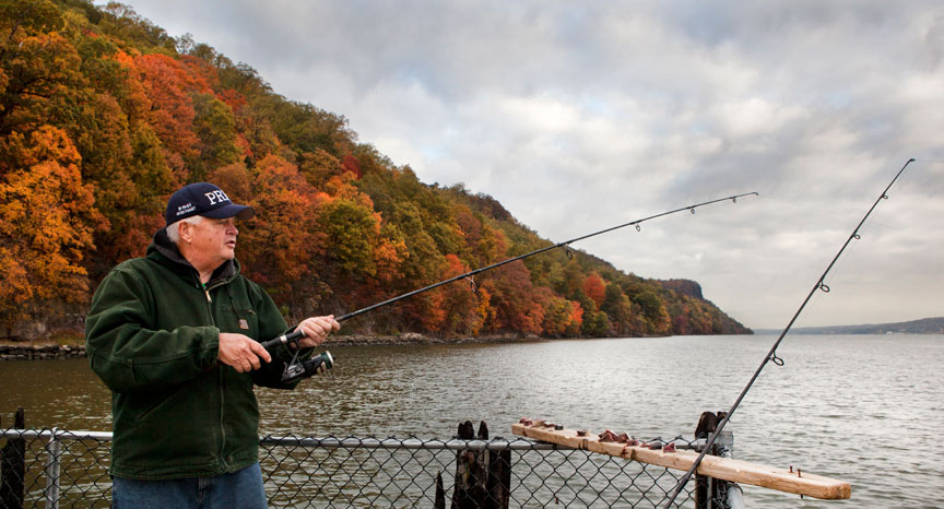 Fishing palisades interstate park in new jersey for Nj saltwater fishing regulations