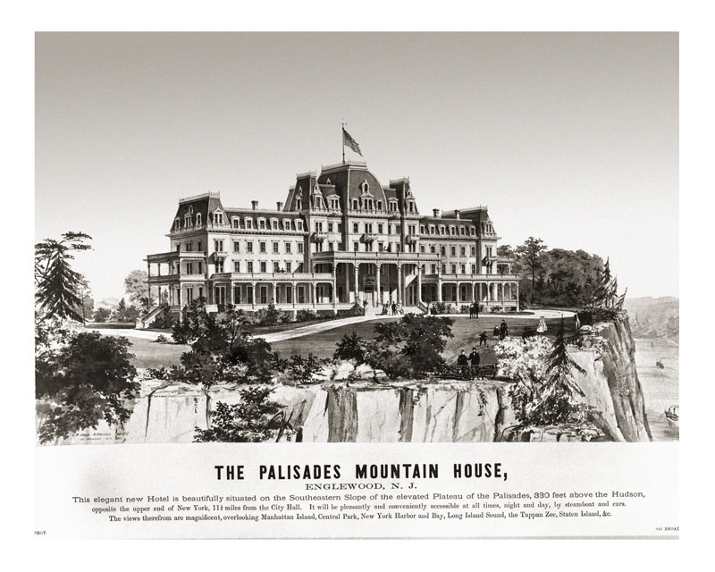 Architect's drawing of the Palisades Mountain House, 1871. Image courtesy of Edwin Rizer. (0125)