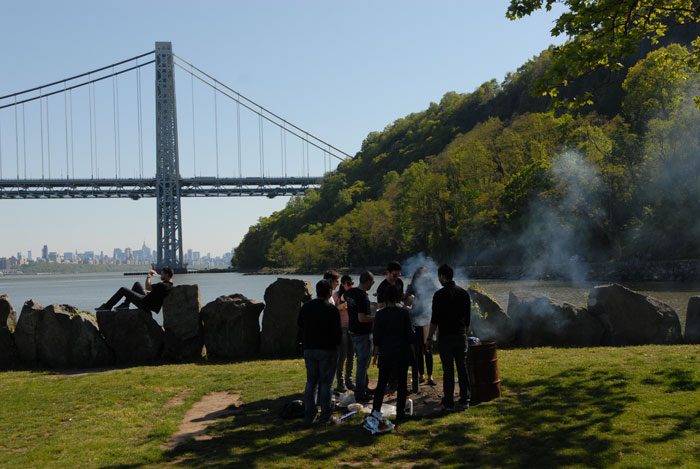 Ross Dock Picnic Area   Palisades Interstate Park in New Jersey